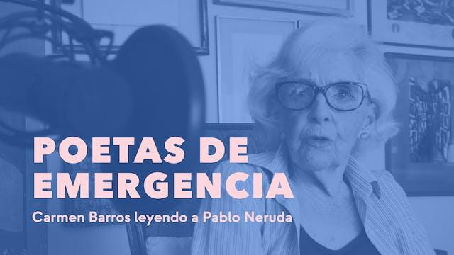 Carmen Barros leyendo a Pablo Neruda
