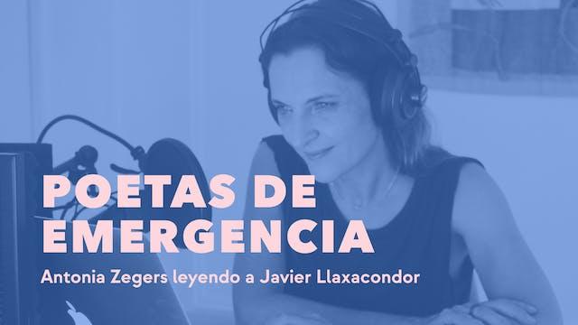 Antonia Zegers leyendo a Javier Llaxa...