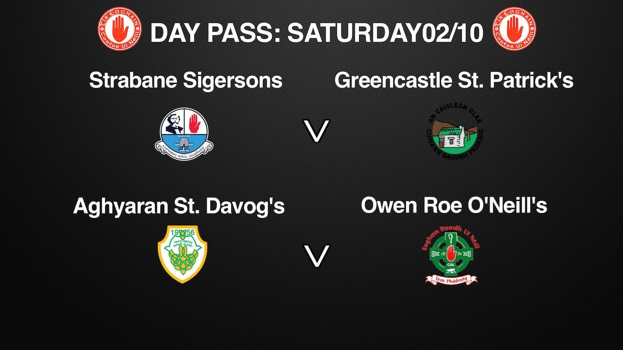 TYRONE IFC, 2 Game Day Pass 02/10