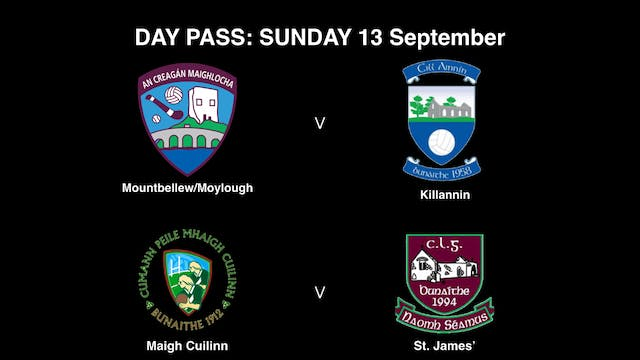 GALWAY SFC Quarter Finals Sunday 13/09