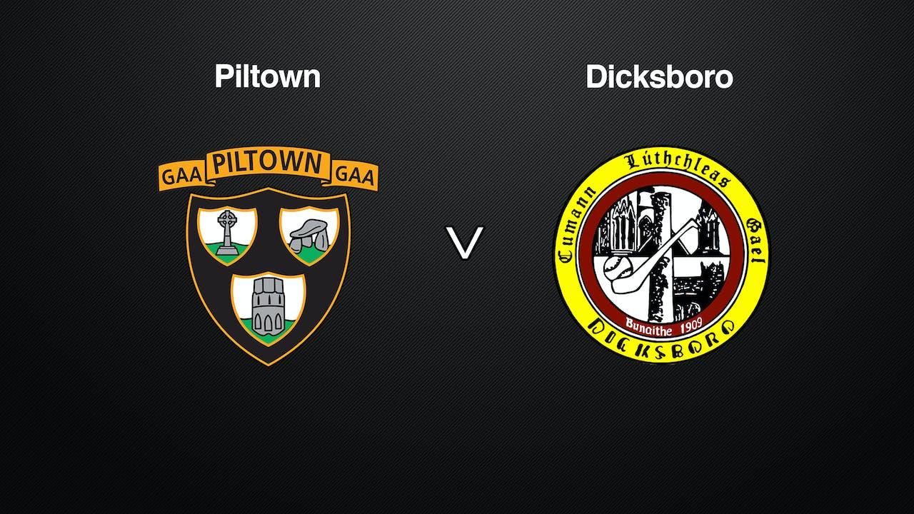 KILKENNY JHC SF Piltown v Dicksboro