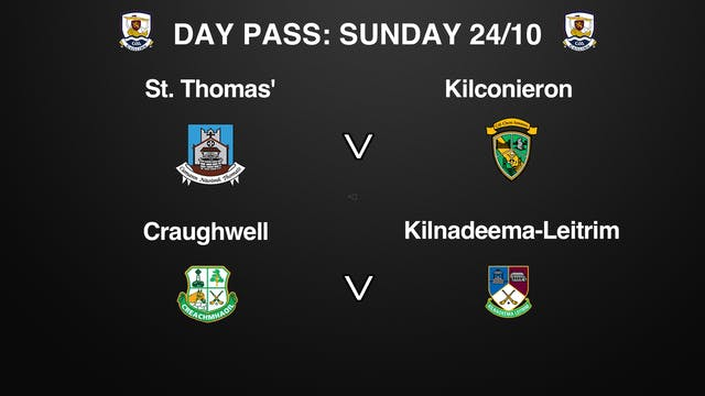 GALWAY SHC QF 2 Game Day Pass Sunday 24/10