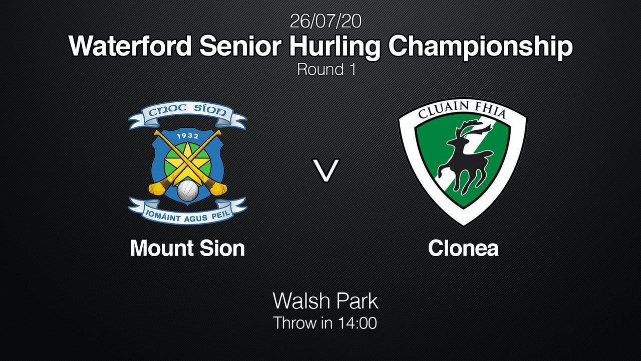 WATERFORD SHC Mount Sion v Clonea
