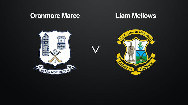 GALWAY Brooks SHC Oranmore Maree v Liam Mellows