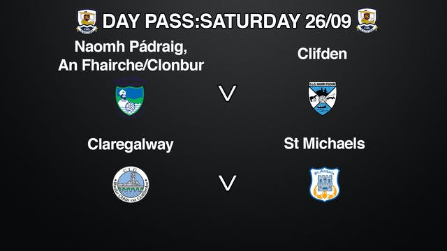 GALWAY SATURDAY 26/09 DAY PASS: FOOTBALL