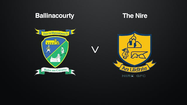 WATERFORD SFC SF Ballinacourty v The Nire