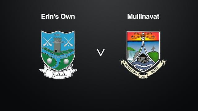 KILKENNY St. Canice's Credit Union SHL Erin's Own v Mullinavat
