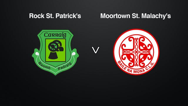 TYRONE IFC Rock St. Patrick's v Moortown St. Malachy's