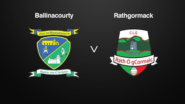 WATERFORD SFC Final, Ballinacourty v Rathgormack