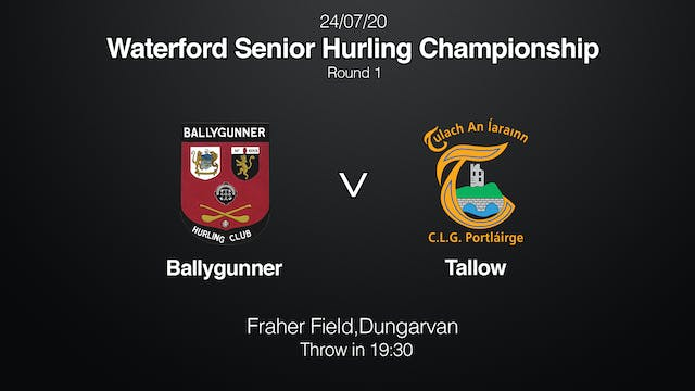 WATERFORD SHC - Ballygunner v Tallow
