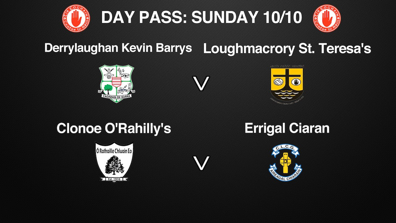 TYRONE SFC 2 Game Day Pass 10/10
