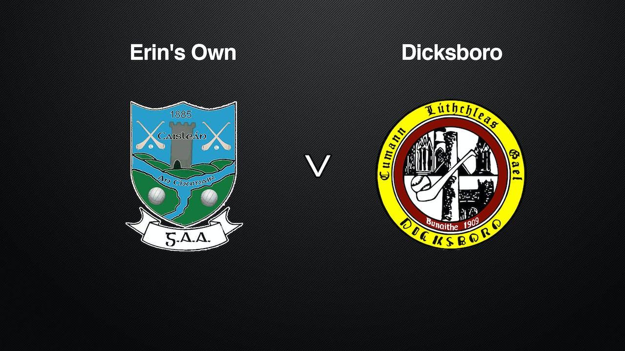 KILKENNY SHL Erin's Own v Dicksboro