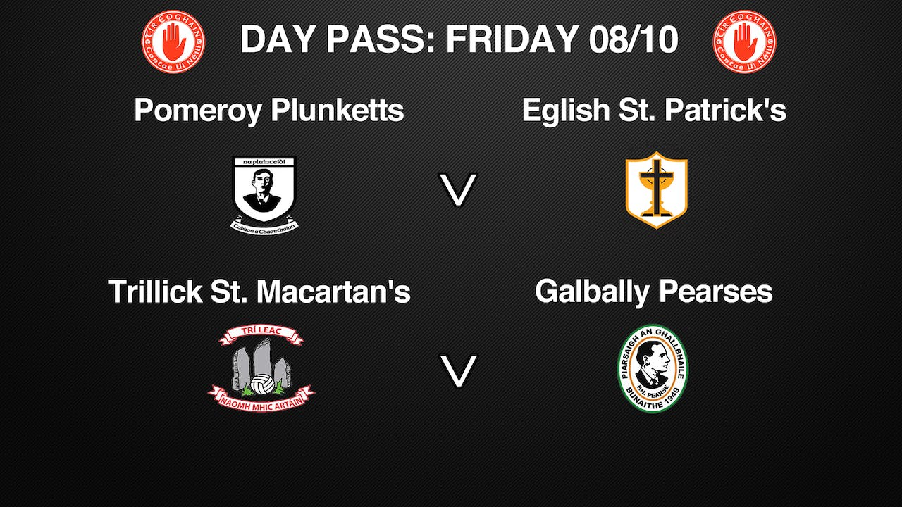 TYRONE SFC 2 Game Day Pass 08/10