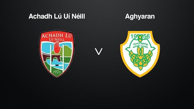 TYRONE IFC Achadh Lú Uí Néill v Aghyaran