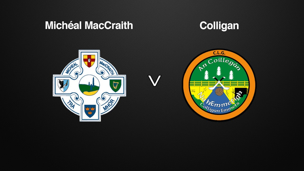 WATERFORD JHC Final Michéal MacCraith v Colligan