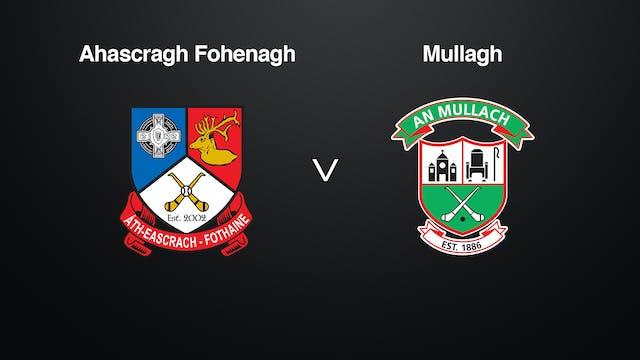 GALWAY Brooks SHC Ahascragh Fohenagh v Mullagh