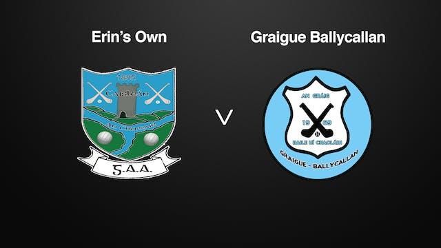 KILKENNY SHL, Erin's Own v Graigue Ballycallan