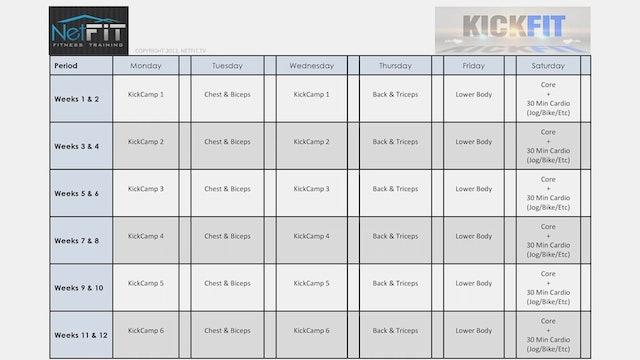 KickFit - Schedule