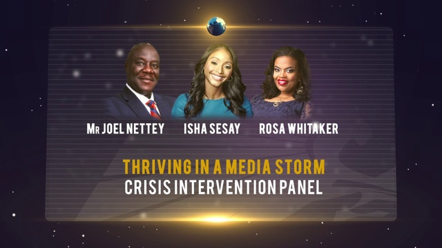Thriving in a Media Storm: A Panel on Crisis Communication and Intervention