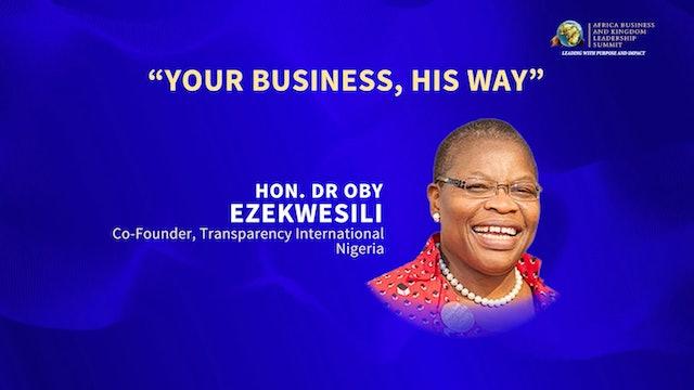 Day 1 Keynote Address- Dr. Oby Ezekwesili
