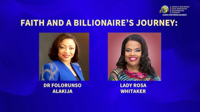 Day 2 AM Session-Faith and a Billionaire's Journey