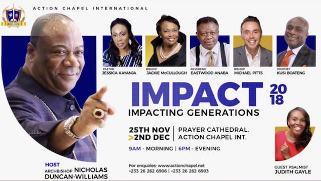 IMPACT 2018 - 11/30 - 6 PM SERVICE-  REV. EASTWOOD ANABA