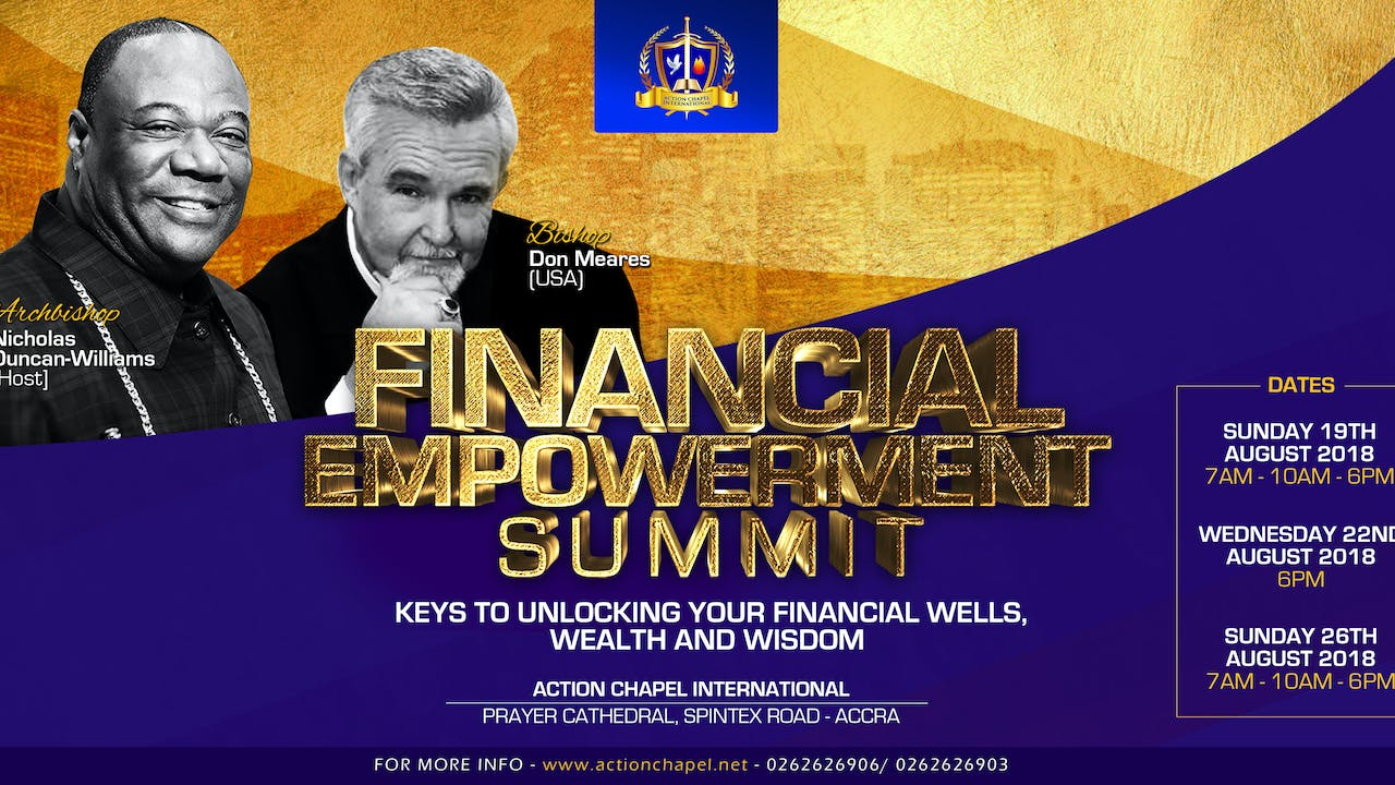 2018 Financial Empowerment Summit with Bishop Don Meares