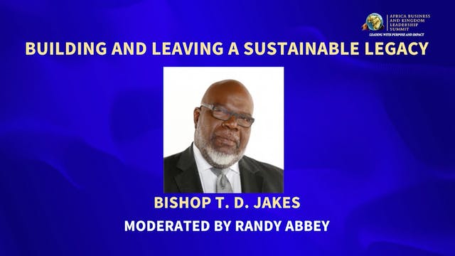 (2017) Bishop T.D. Jakes: Leaving a S...