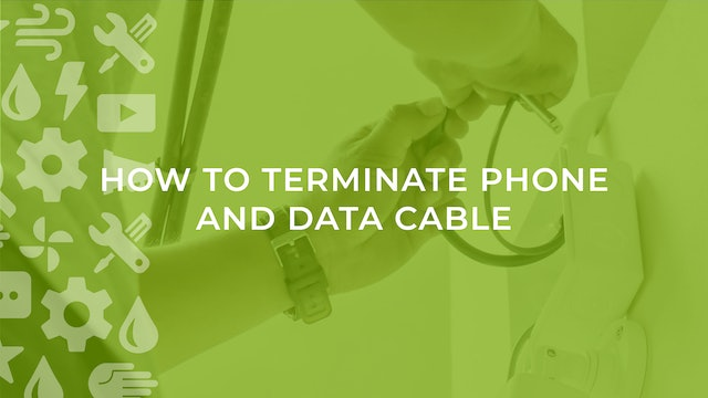 How To Terminate Phone and Data Cable