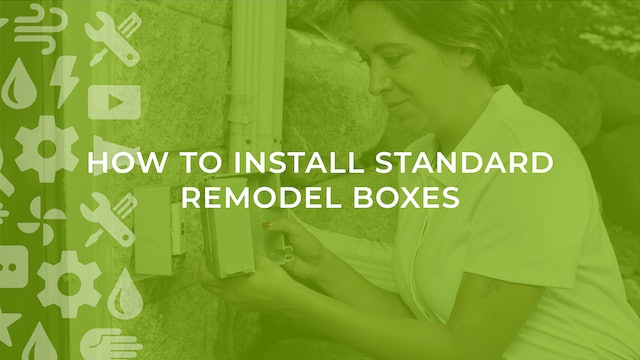 How to Install Standard Remodel Boxes