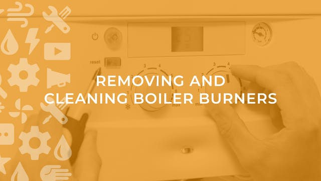 Removing and Cleaning Boiler Burners