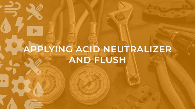 Applying Acid Neutralizer and Flush