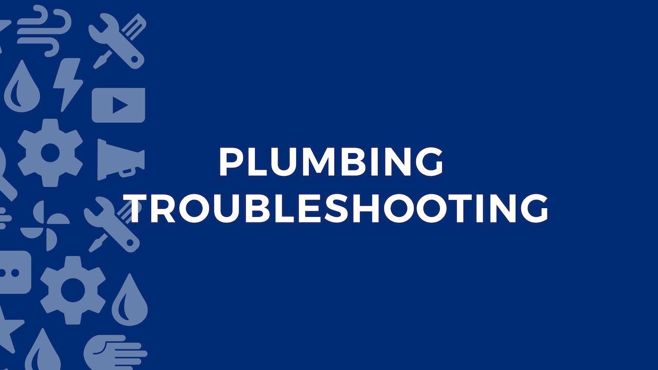 Plumbing Troubleshooting