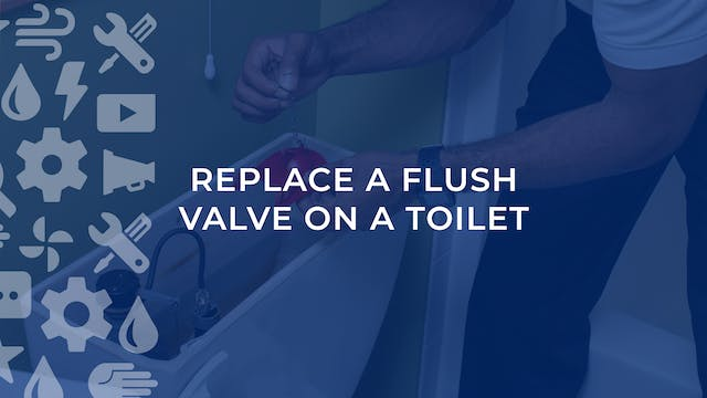 Replace A Flush Valve On A Toilet