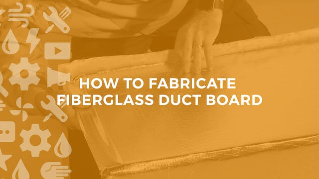 How to Fabricate Fiberglass Ductboard