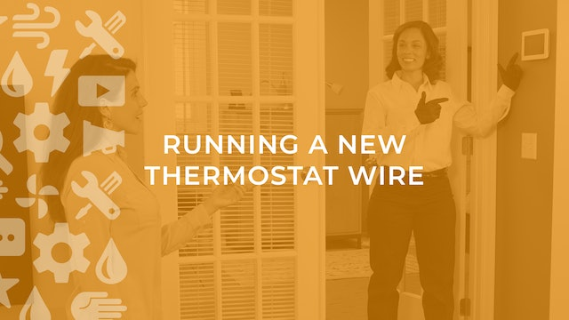 Running a New Thermostat Wire
