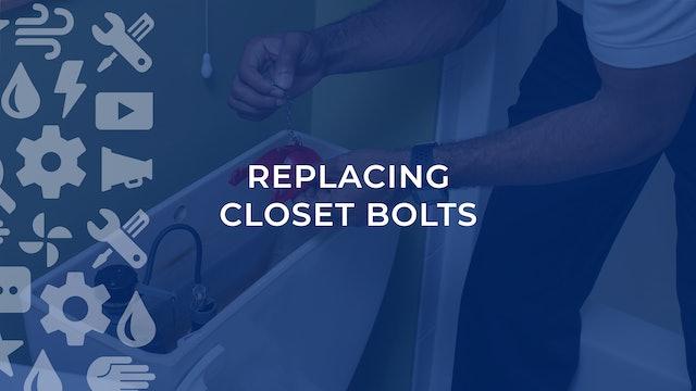 Replacing Closet Bolts