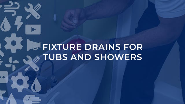 Fixture Drains For Tubs and Showers