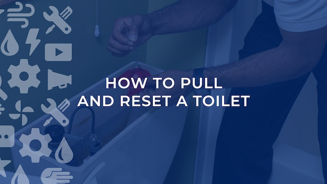 How To Pull and Reset A Toilet