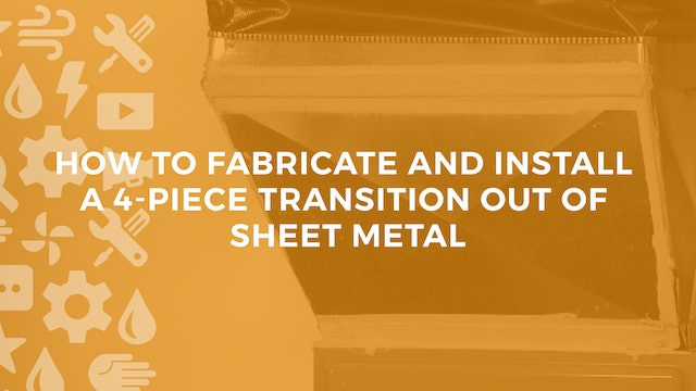 How to Fabricate a Transition out of Sheet Metal