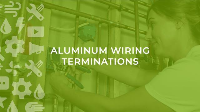 Aluminum Wiring Terminations