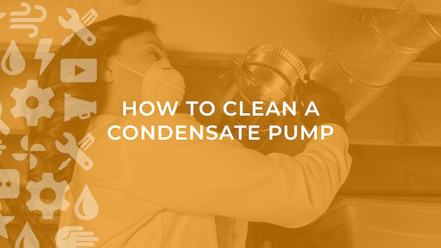 How to Clean a Condensate Pump
