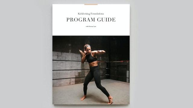 PROGRAM GUIDE | Kickoxing Foundations with Farinaz Lari