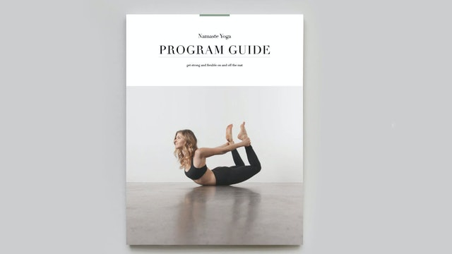 PROGRAM GUIDE   Namaste Yoga