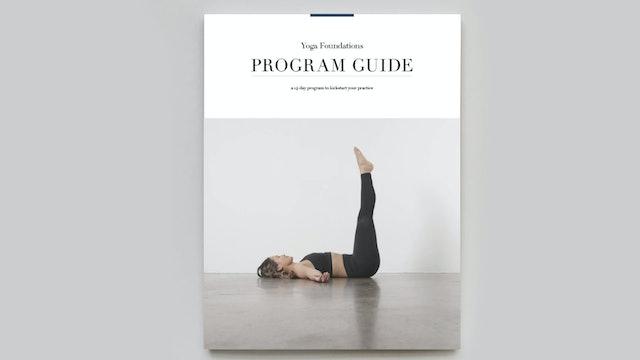 PROGRAM GUIDE | Yoga Foundations