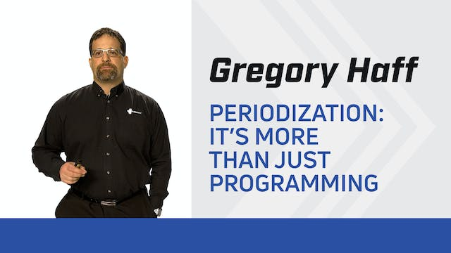 Periodization: It's More Than Just Programming