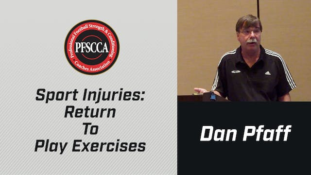 PFSCCA: Sports Injuries: Return To Play Exercises