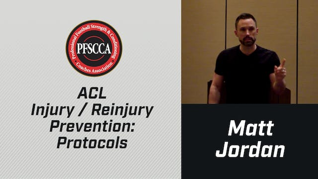 PFSCCA: ACL Injury / Reinjury Prevent...