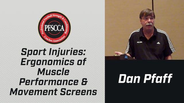 PFSCCA Sports Injuries: Ergonomics of Muscle Performance & Movement Screens