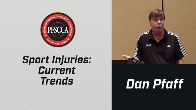 PFSCCA: Sports Injuries: Current Trends